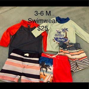 3-6 month swimwear $25